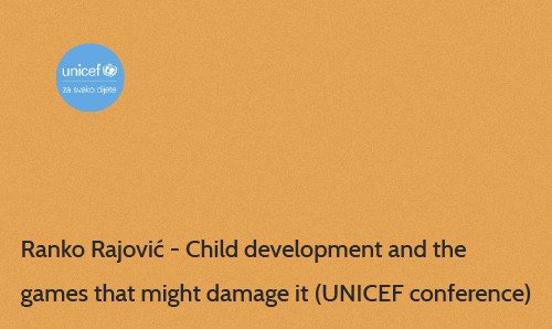 Unicef panel - child development and the games that might damage it